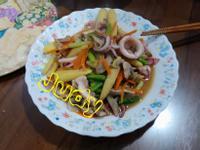 小卷炒鮮蔬