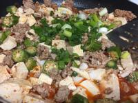 這不是麻婆豆腐《麻辣豆腐秋葵肉末》