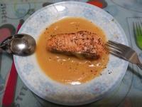 香煎三文魚凍湯