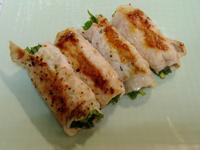 【韭菜煎肉卷】美觀又快速的菜餚,營養豐富
