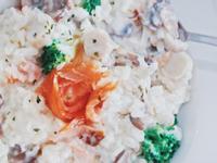 低卡簡單~燻鮭魚起司野菇燉飯(影片)