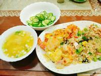 毛豆鮭魚蛋炒飯🐟套餐♥️