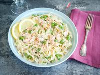 【15分鐘食譜】鮭魚奶油義大利麵