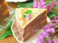 巧克力鮮奶油芭娜娜千層蛋糕(免烤箱)