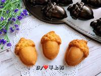 橡實造型杏仁小蛋糕(分蛋海綿)