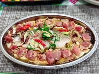 培根豆腐蒸鱸魚(水波爐料理)