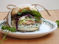 綠色女神乳酪鮪魚三明治早餐