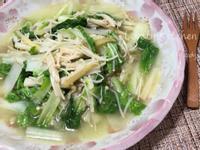 小白菜燴金針菇
