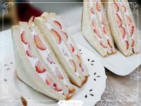草苺鮮奶油三明治(純素)