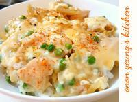 一鍋到底。日式親子雞肉丼 家常雞肉蓋飯。