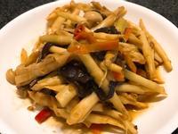 黃豆醬炒箭筍~全素