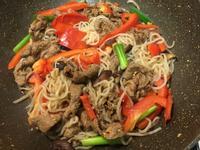 [減肥菜單] 紅椒牛肉蒟蒻麵