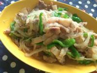 十分鐘上菜─鹹豬肉炒鮮蔬