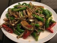 糯米椒豆乾炒小魚乾