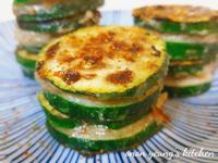 香煎釀肉櫛瓜 簡易。家常菜