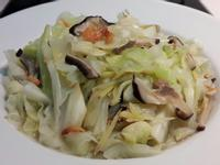 香菇清炒高麗菜~低脂水油炒
