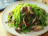 【三高族群清淡食譜】水蓮香菇炒雞絲