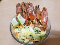 親子手作:乾煎鮮蝦沙拉