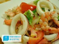 【吉刻美食】泰式涼拌蝦仁中卷