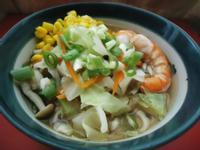 簡易鮮蝦蔬菜味噌拉麵-260卡