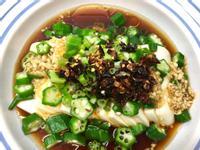 油淋秋葵豆腐