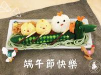 造型飯糰-小雞划龍舟