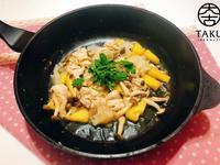 鳳梨炒菇菇雞柳條