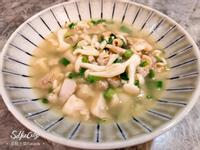 美白菇蔥雞湯