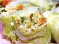 高麗菜捲堅果糙米飯