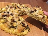【寶寶食譜】青醬雞肉米飯Pizza