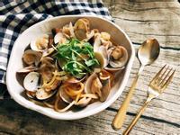白酒蛤蜊明太子醬義大利麵