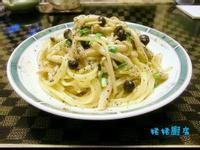 香蒜野菇義大利麵