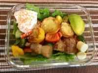 [生酮低醣餐]櫛瓜豬五花沙拉