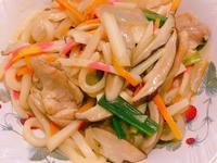 超日式雞肉炒烏龍麵