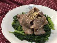 水煮牛肉&牛油燙青菜