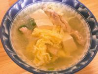 肉絲豆腐蛋花湯