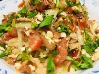 低油、低醣~義式堅果涼拌鮪魚、雞肉洋蔥絲