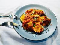 卡拉布里風味蛋麵茄子餃