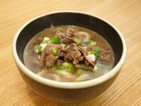 日式牛肉烏龍麵。一人份食譜