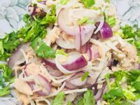 低油~鮪魚涼拌菇菇紫洋蔥