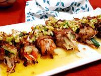 蔥油豬肉捲蔬菜