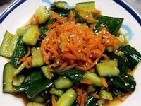 涼拌紅蘿蔔絲小黃瓜