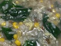 「蛋素」皮蛋蔬菜粥