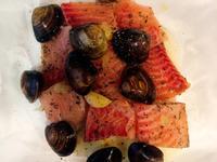 紙包魚(蛤蜊蔬菜鯛魚)