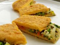超簡單【對折蔬菜玉子燒】~ 早餐低醣料理