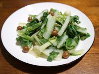 破布子炒小白菜。簡易便當菜