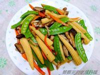 家常菜~玉米筍炒百茹