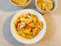 留學生食譜🍅番茄滑蛋豆腐🍳