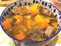 南瓜玉米牛肉湯(大同電鍋)