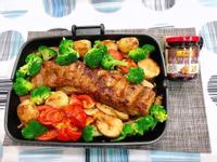 水波爐烤豬肋排佐野菜-李錦記日式照燒醬